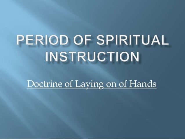 Doctrine of Laying on of Hands