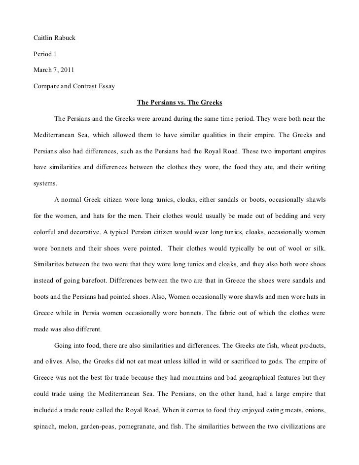 Compare Contrast Essay Thesis   Topic Sentence Examples  authorSTREAM