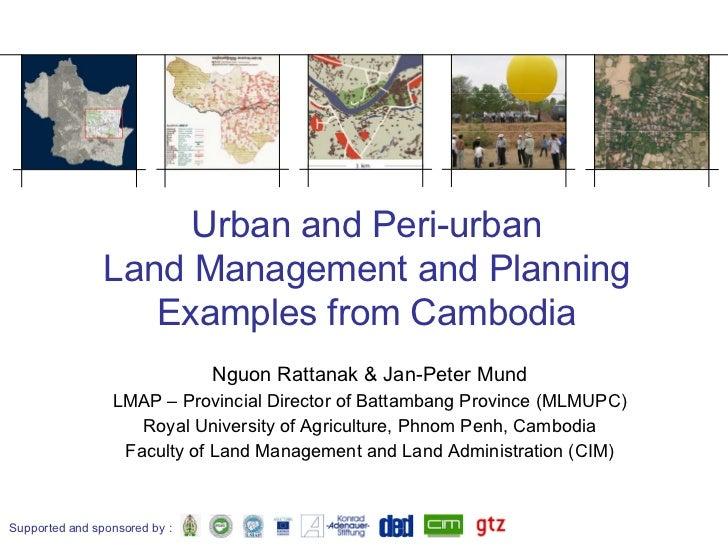 Peri Urban Land Managment In Cambodia