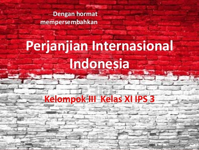 Perjanjian internasional indonesia