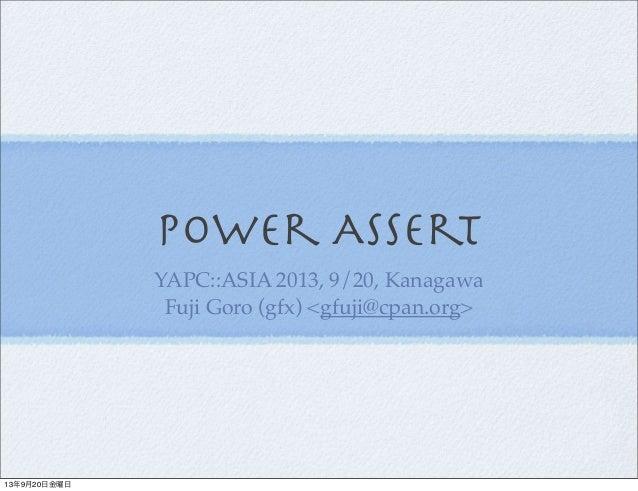 Power Assert and perl.js