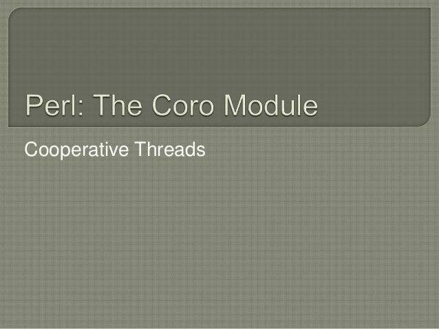 Cooperative Threads