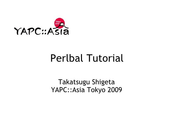 Perlbal Tutorial
