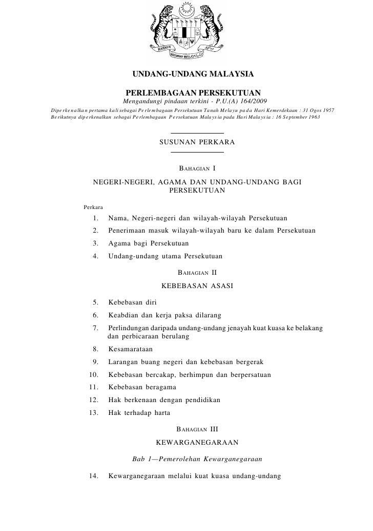 gaan Persekutuan                                        UNDANG-UNDANG MALAYSIA                                     PERLEMB...