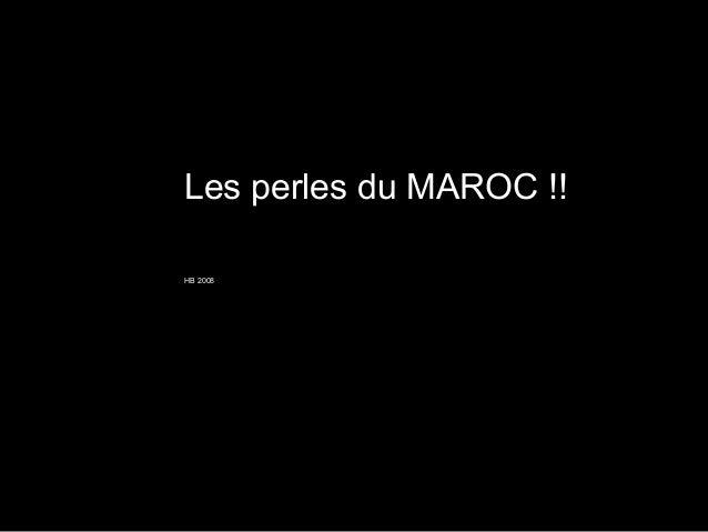 Les perles du MAROC !!HB 2008