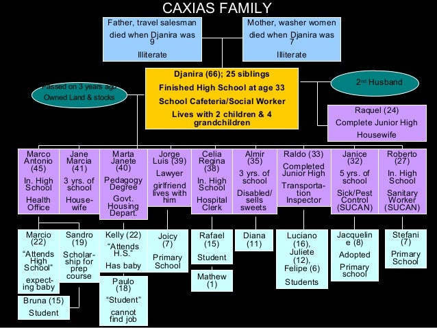 CAXIAS FAMILY Father, travel salesman died when Djanira was 9 Illiterate 1st Husband Passed on 3 years ago Owned Land & st...