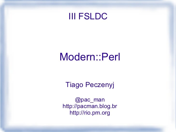 Perl Moderno