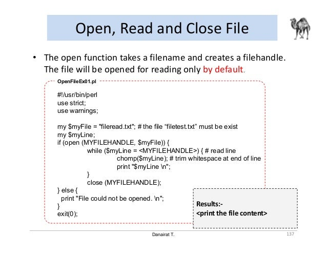 perl open file for writing