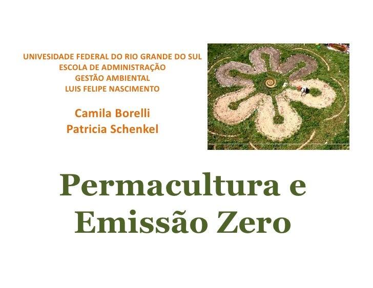 UNIVESIDADE FEDERAL DO RIO GRANDE DO SUL         ESCOLA DE ADMINISTRAÇÃO            GESTÃO AMBIENTAL          LUIS FELIPE ...