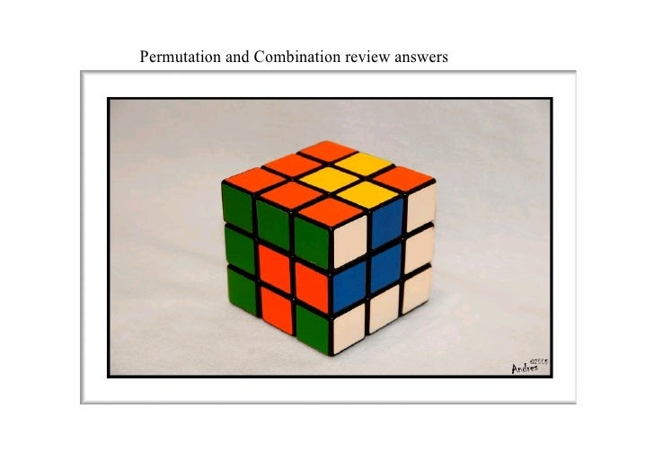 Permutation and Combination review answers