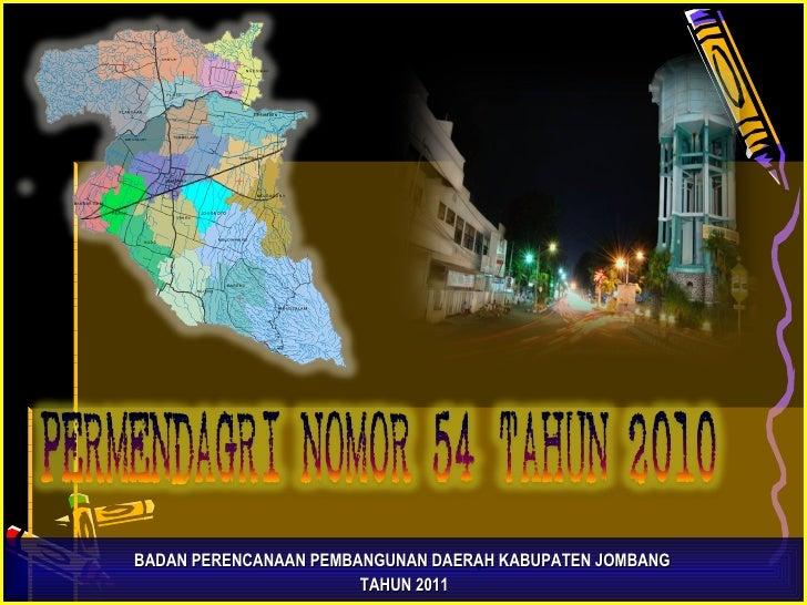 BADAN PERENCANAAN PEMBANGUNAN DAERAH  KABUPATEN JOMBANG  TAHUN 2011