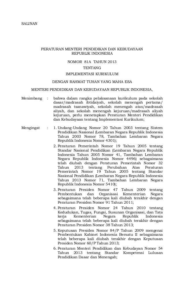 Permendikbud nomor-81a-tahun-2013-tentang-implementasi-kurikulum