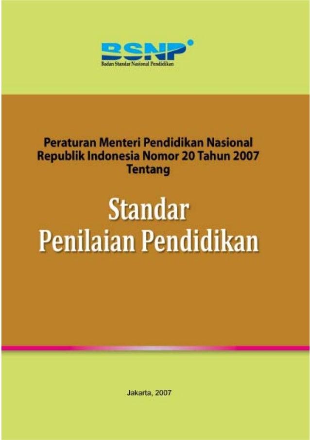 Permendiknas no-20-th-2007-ttg-standar-penilaian-pendidikan