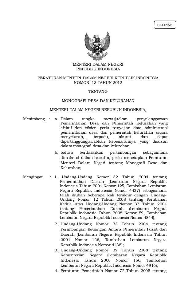 SALINAN                         MENTERI DALAM NEGERI                          REPUBLIK INDONESIA      PERATURAN MENTERI DA...