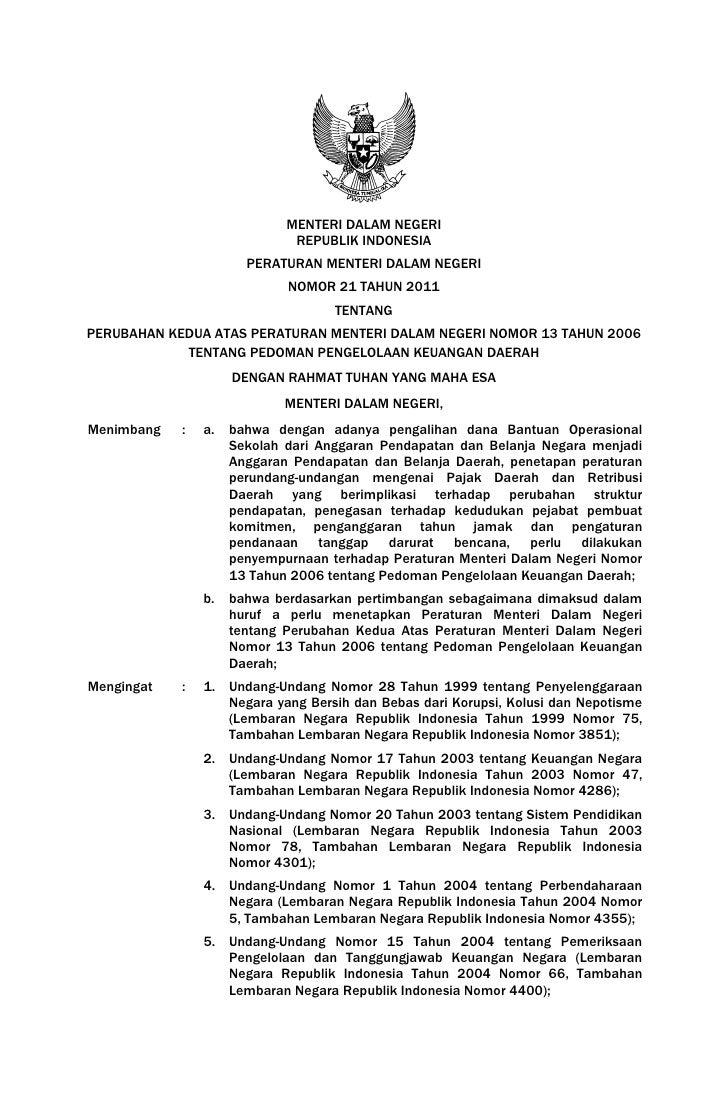 MENTERI DALAM NEGERI                              REPUBLIK INDONESIA                       PERATURAN MENTERI DALAM NEGERI ...