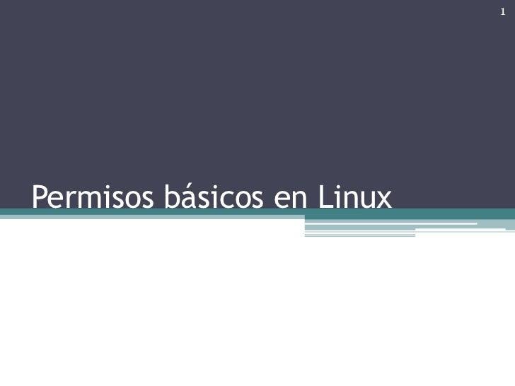 Permisos basicos linux