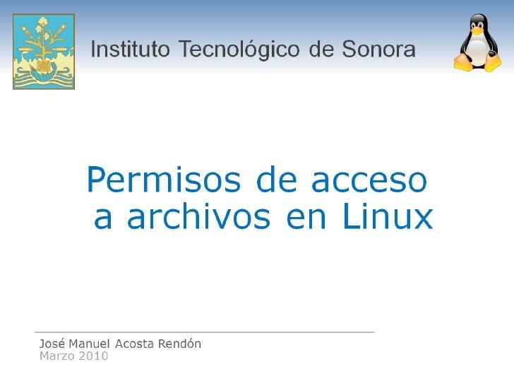Permisos Linux Itson