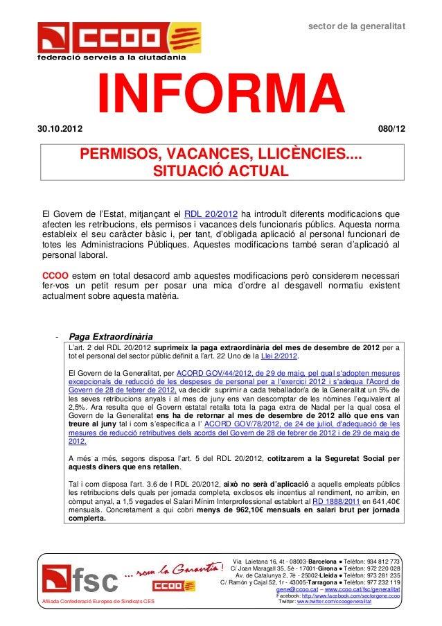 sector de la generalitatfederació serveis a la ciutadania30.10.2012                      INFORMA                          ...