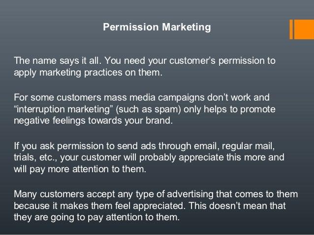 Permission mkt class - Presentation