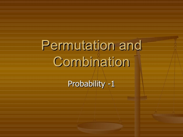 Permutation and Combination Probability -1