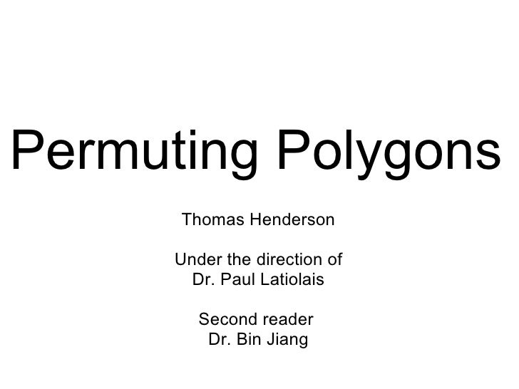 Permuting Polygons