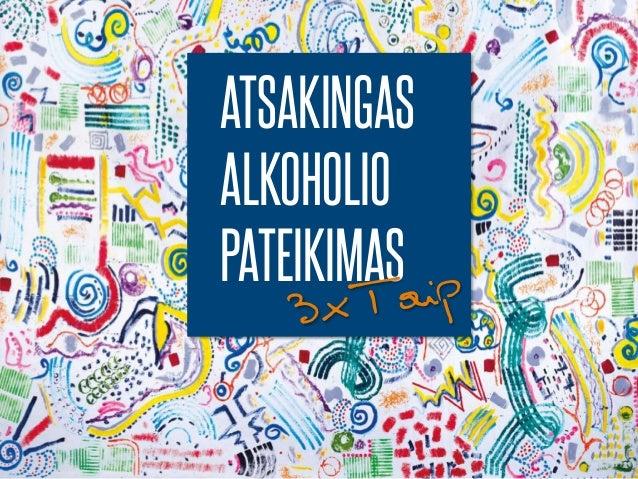 ATSAKINGAS ALKOHOLIO PATEIKIMAS 3xTaip