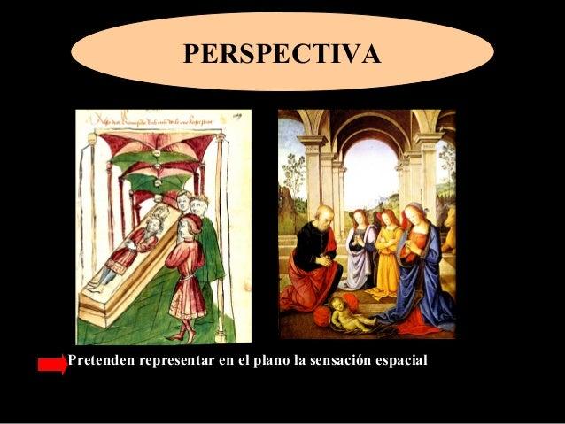 PERSPECTIVA Pretenden representar en el plano la sensación espacial