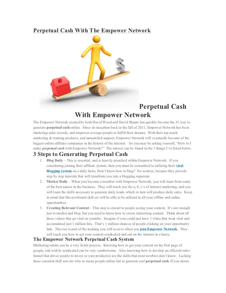 Perpetual Cash With The Empower Network                                             Perpetual Cash                        ...