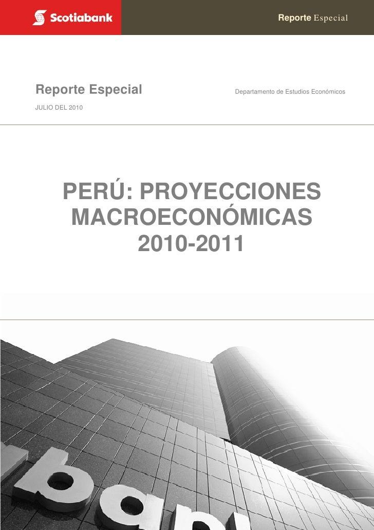 Reporte Especial        Reporte Especial                        Departamento de Estudios Económicos     JULIO DEL 2010    ...