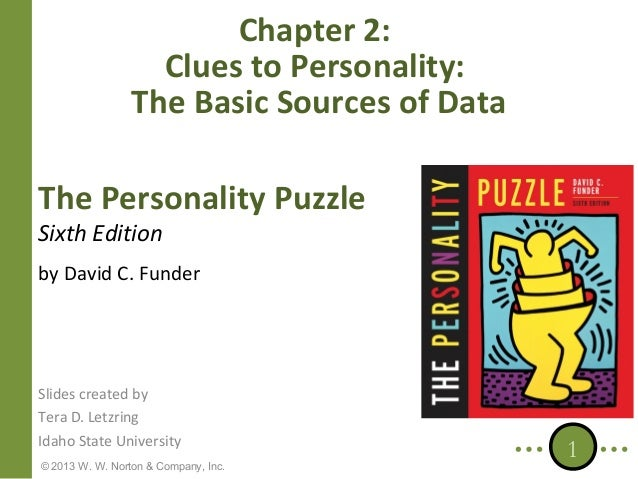 Chapter 2: Clues to Personality: The Basic Sources of Data The Personality Puzzle Sixth Edition  by David C. Funder  Slide...