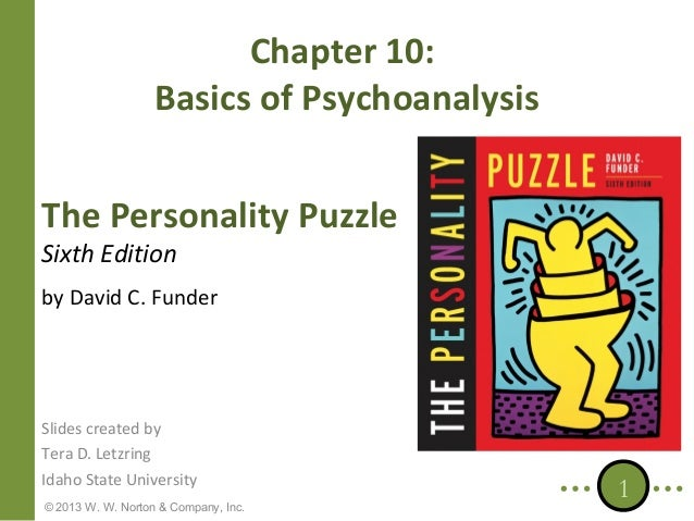 Chapter 10: Basics of Psychoanalysis The Personality Puzzle Sixth Edition  by David C. Funder  Slides created by Tera D. L...