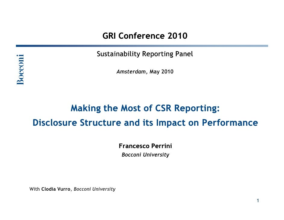 GRI Conference - 27 May - Perrini - Sustainability Reporting Panel