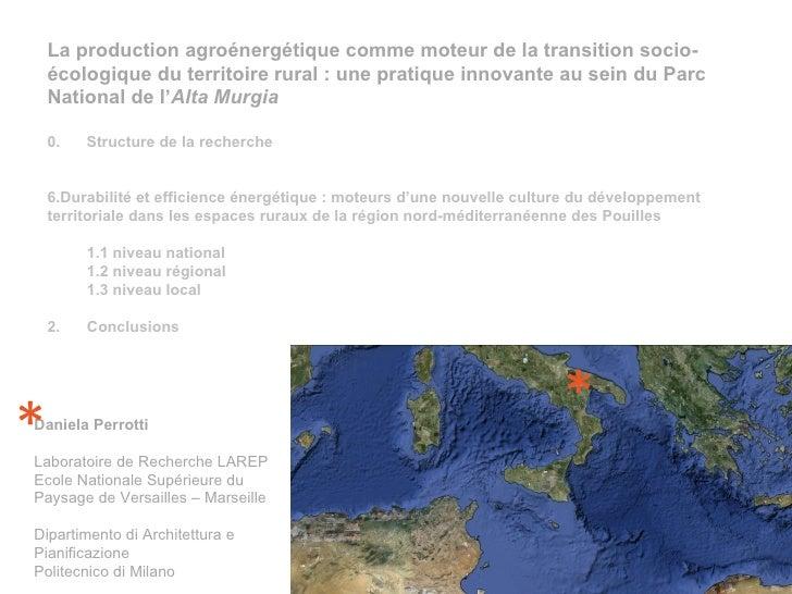 <ul><li>La production agroénergétique comme moteur de la transition socio-écologique du territoire rural : une pratique in...