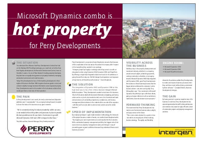 Perry Developments (case study)