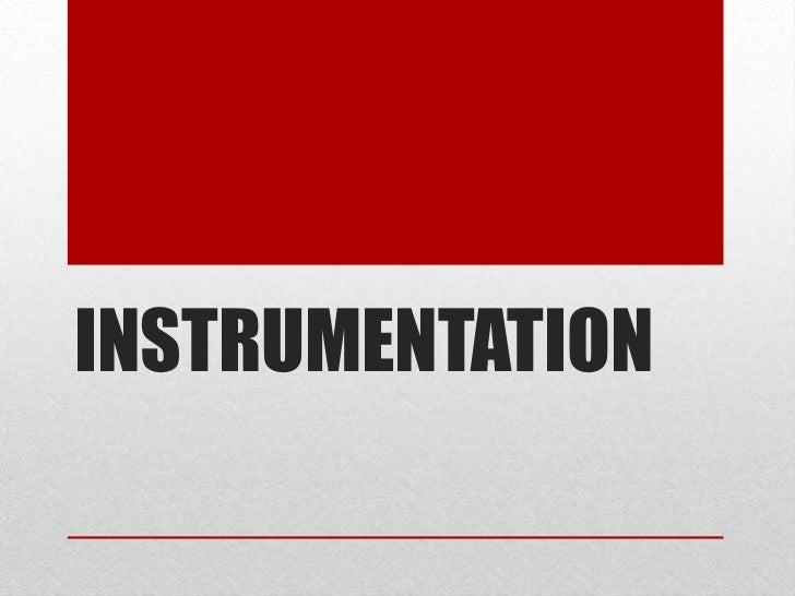 Presentasi instrumen