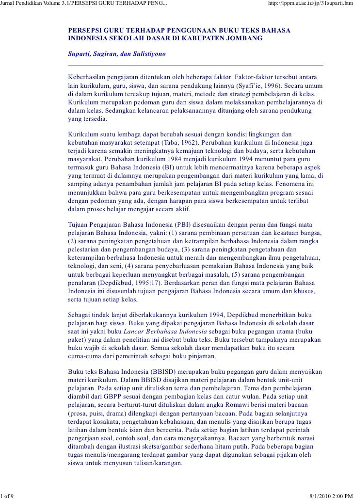 Jurnal Pendidikan Volume 3.1/PERSEPSI GURU TERHADAP PENG...                                http://lppm.ut.ac.id/jp/31supar...