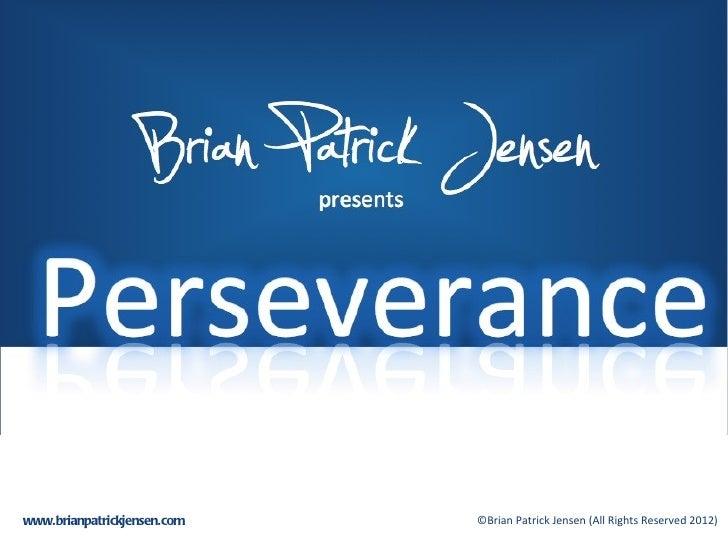 Perseverance to Triumph