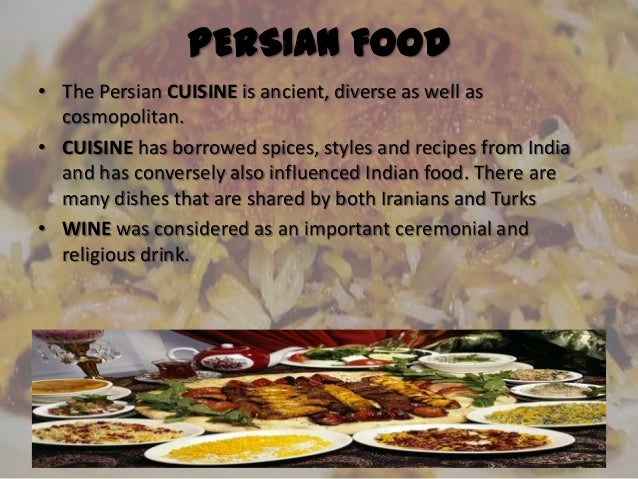 Persian civilization for Ancient persian cuisine