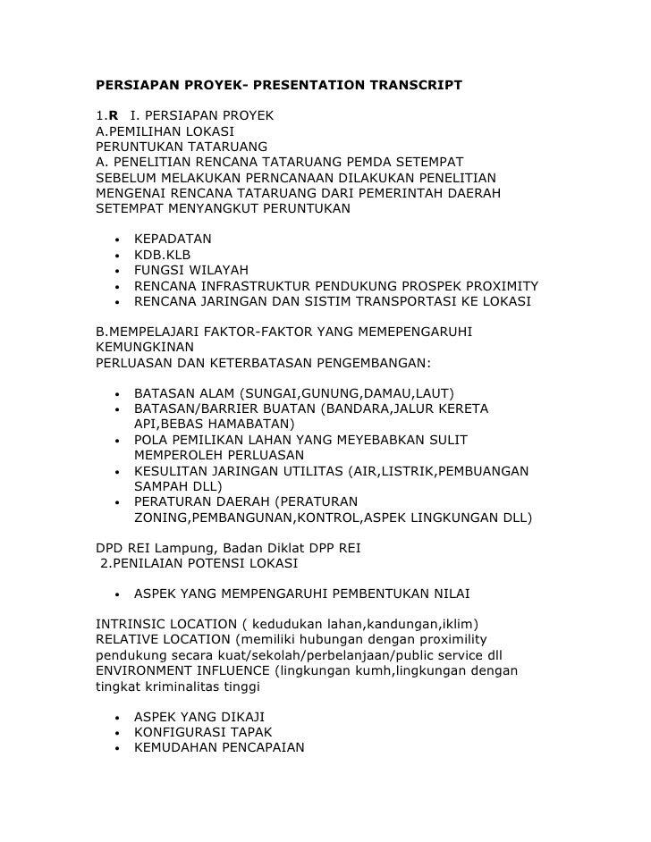 Persiapan project