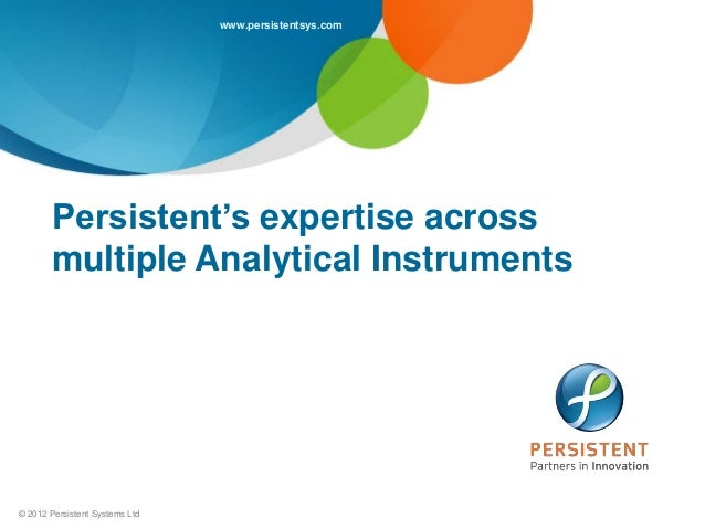 Persistent Analytical Instrumentation Expertise
