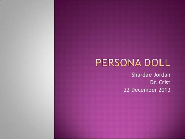 Persona doll ppt