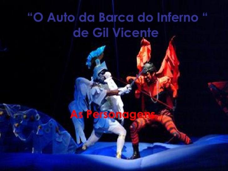 """"""" O Auto da Barca do Inferno """" de Gil Vicente   As Personagens"""