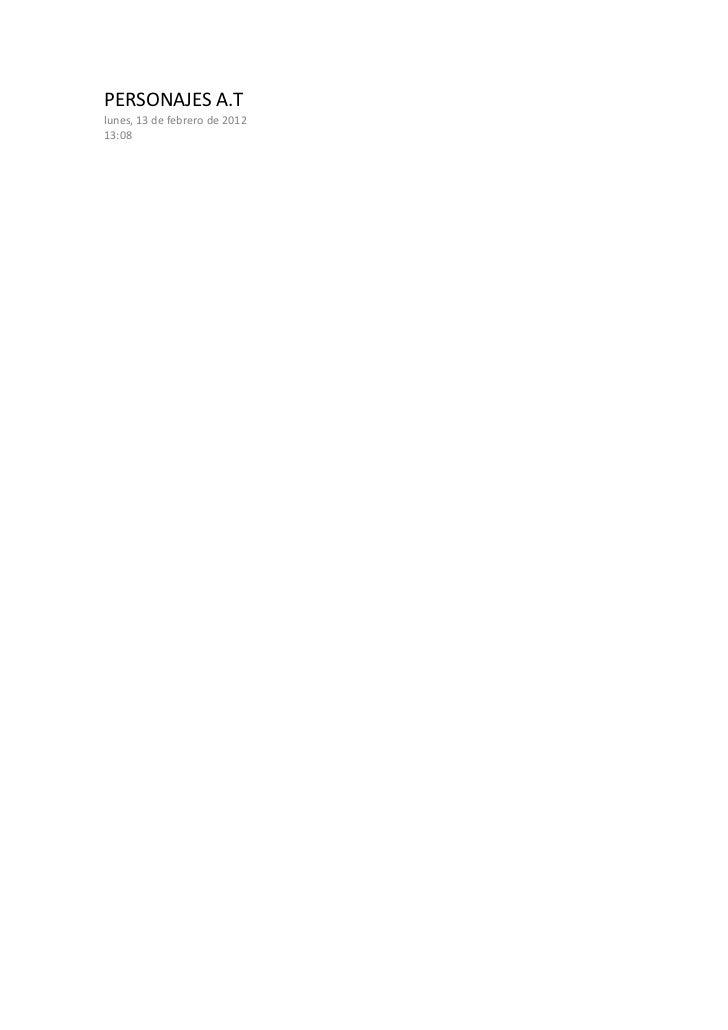 PERSONAJES A.Tlunes, 13 de febrero de 201213:08