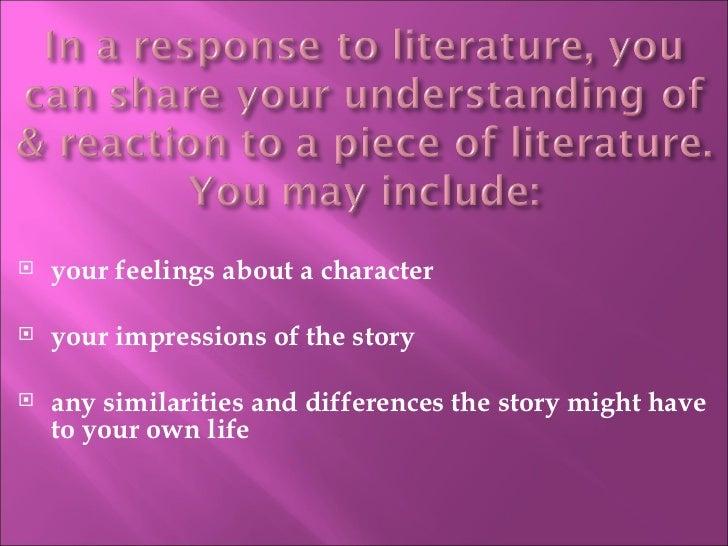 How do you write a personal response to a novel?