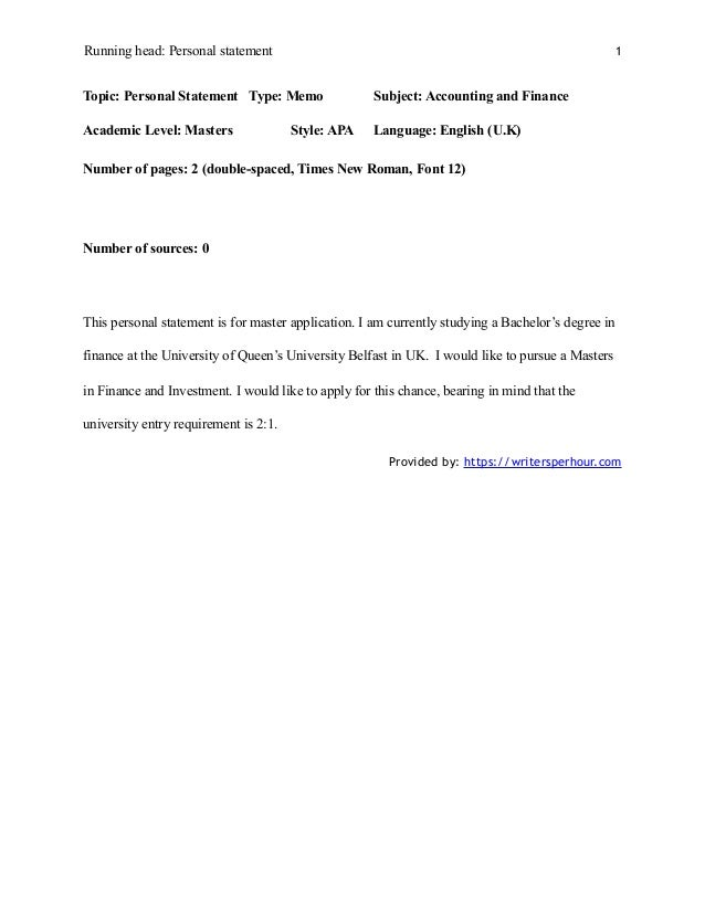 personal statements for grad school examples