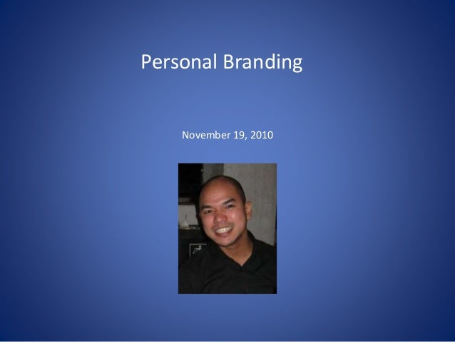 Personal Branding November 19, 2010
