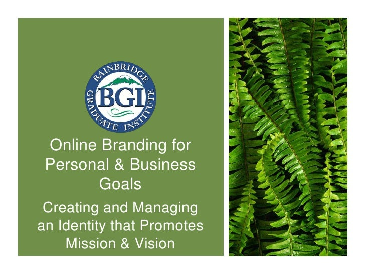 Personal Brand Slidecast for BGIMGT566SX