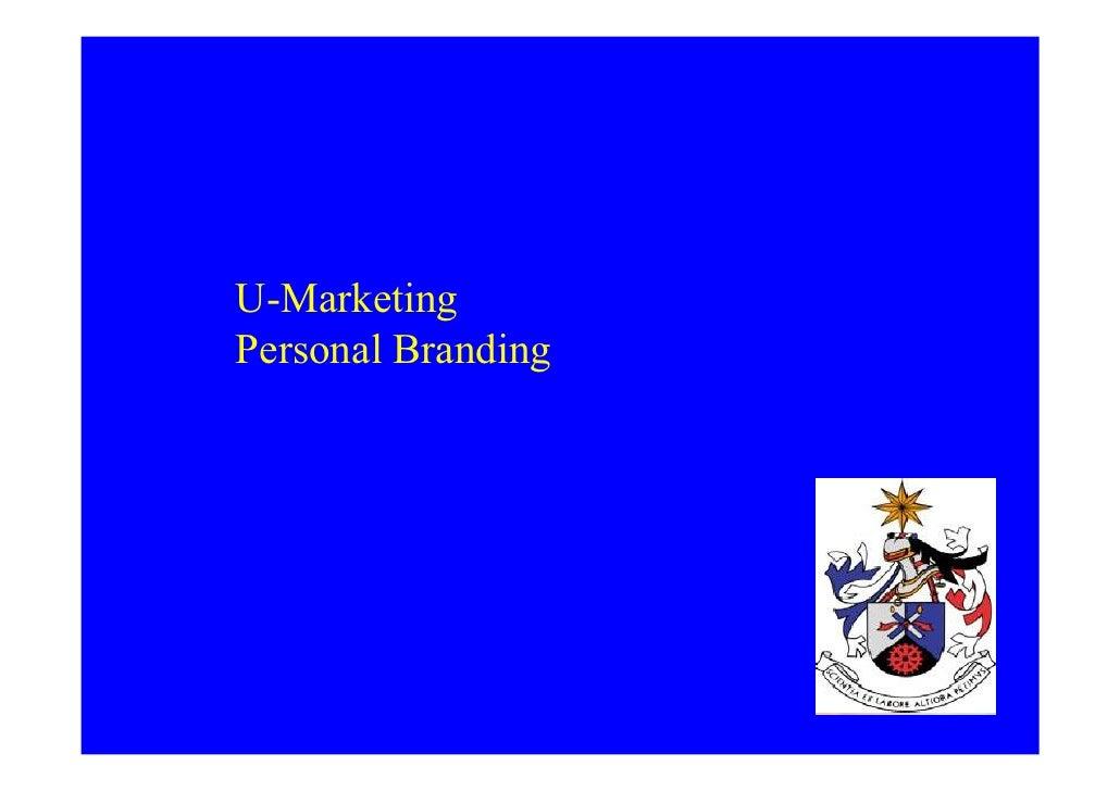 Personal Branding - U Marketing
