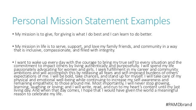 why you need to create a personal mission statement
