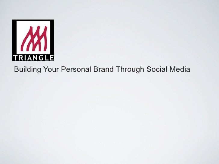 Personal Branding with social media 101